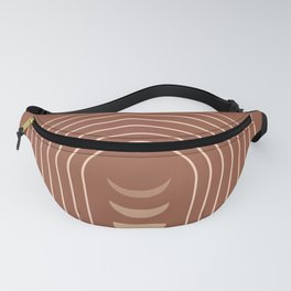 Mid Century Modern Geometric 10 (Moon phases) Fanny Pack