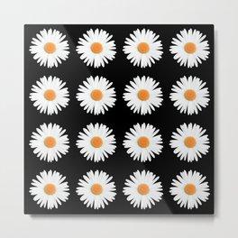 Daisy Pattern Metal Print