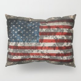 Digital Camo Patriotic Chevrons American Flag Pillow Sham