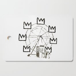 Ferris Wheel, Banksy Pays Tribute To Jean-Michel Basquiat, Artwork, Tshirts, Posters, Bags, Prints, Cutting Board