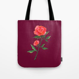 Red Rose on WineRed Tote Bag