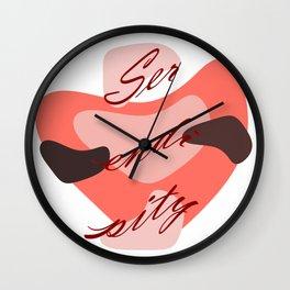 Serendipity heart Wall Clock