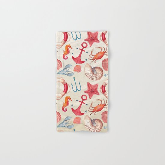 Marine Pattern 04 Hand & Bath Towel