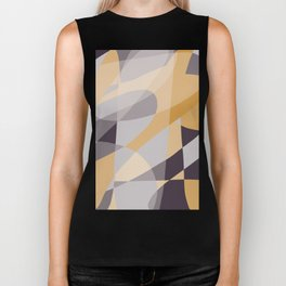 Purple and Gold (XI) Abstract Biker Tank