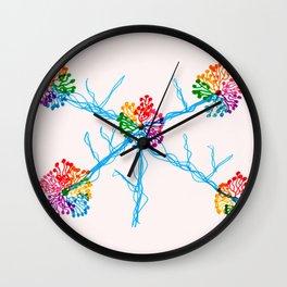 Fireworks Tree 2 Wall Clock
