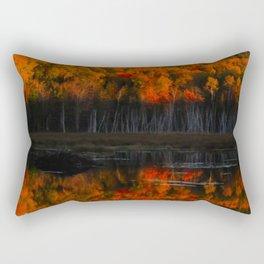 Autumn Sunset Reflection at the Moosehorn Rectangular Pillow