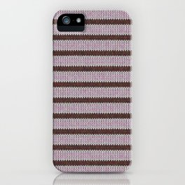 Pink Roses in Anzures 1 Knit 1 iPhone Case