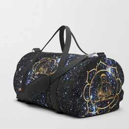 Gold funky Space Buddha Duffle Bag