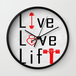 Live Love Lift Inspirational Life Motivating Quote Wall Clock