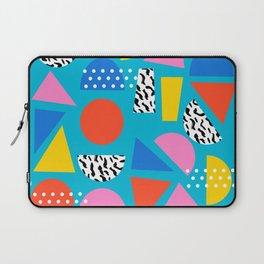 Airhead - memphis retro throwback minimal geometric colorful pattern 80s style 1980's Laptop Sleeve