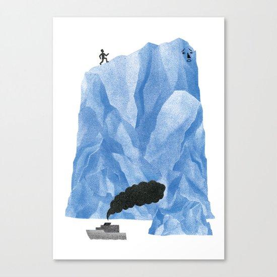 The Living Iceberg Cousin Canvas Print