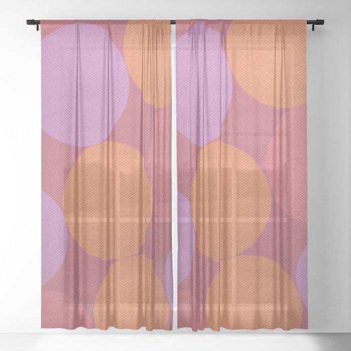 Sunset Shadows Moon Sheer Curtain
