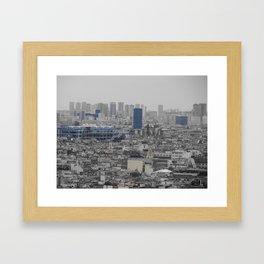 Skyline shot from Sacre Coeure Paris Framed Art Print