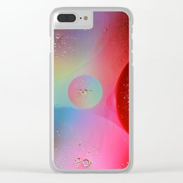 Digital Oil Drop Abstract Clear iPhone Case