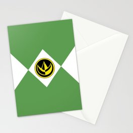 MMPR Green Coin Stationery Cards