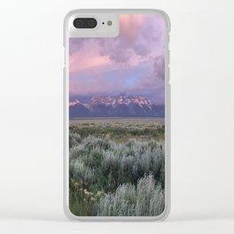 Teton Range Sunrise Clear iPhone Case