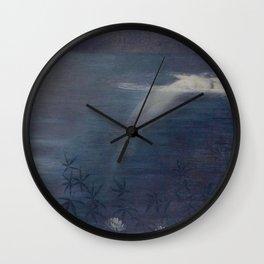 Moonlit Pool by Philip Lesley Hale Wall Clock