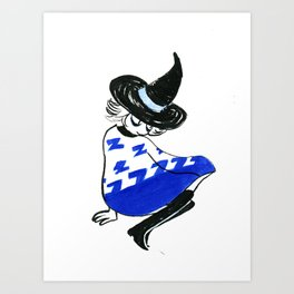 Tired witch Art Print