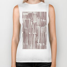 Simply Bamboo Brushstroke Red Earth on Lunar Gray Biker Tank
