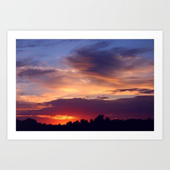 Violet Sunset Art Print