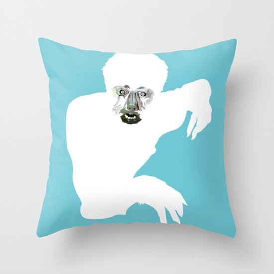 hombrelobo Throw Pillow