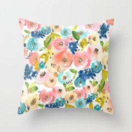 Floral POP #1 Throw Pillow