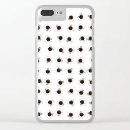 Coffee cups / 3D render of hundreds of cups of coffee Clear iPhone Case