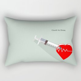 Shot to the heart - Pulp fiction Overdose Needle Scene needle for injection  Rectangular Pillow