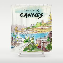 Winter In Cannes Shower Curtain
