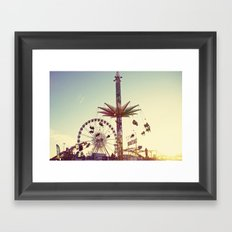 Golden Hour at the Carnival Framed Art Print
