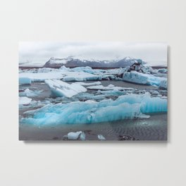 Jökulsárlón Glacier Lagoon, Iceland Metal Print