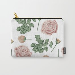 Flower Shop Roses Pattern White Carry-All Pouch