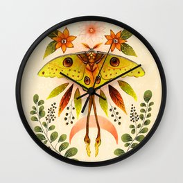 Moth Wings IV Wall Clock