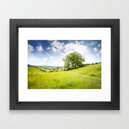 Idyllic Cotswold Summer Landscape Framed Art Print