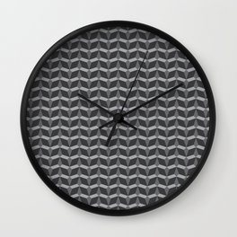 Geometric Pattern In Perspective Wall Clock
