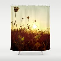 rush Shower Curtains featuring summer rush by Daniela Ignatova