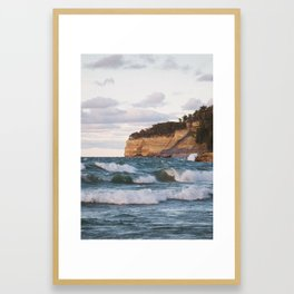 Waves at Pictured Rocks National Lakeshore | Munising, Michigan | John Hill Photography Framed Art Print