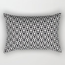 Checkered Skulls Pattern I Rectangular Pillow