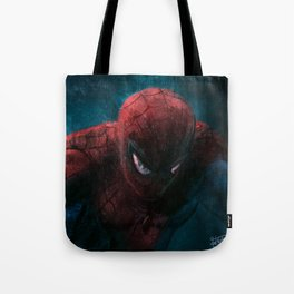 Spider-Man painting Tote Bag
