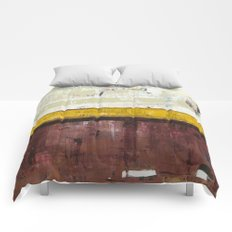 Timber Maroon Gold Abstract Art Painting Comforters