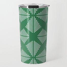Geometric Dots Pattern - Turquoise Travel Mug