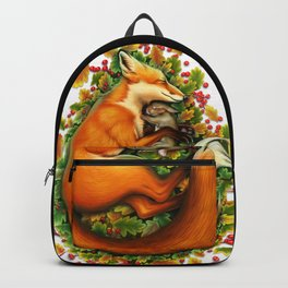 Fox and bunny sleeping Backpack