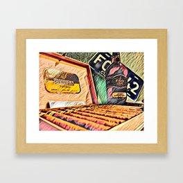 Cigars y Ron de Cuba Framed Art Print