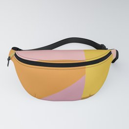 Shapes in Vintage Modern Pink, Orange, Yellow, and Lavender Fanny Pack