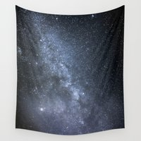 milky way Wall Tapestries featuring Milky Way by Astrophotos by McLeod