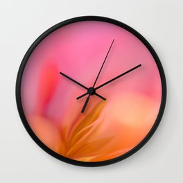 Abstract Flower In Pink And Yellow Color #decor #society6 #homedecor Wall Clock