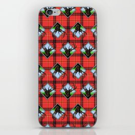 woodsman plaid iPhone Skin