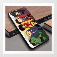 1D One Direction comic superhero movies custom iPhone 6s case Art Print