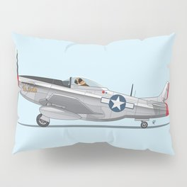 Boxer 'The Duke' flying his P-51 Mustang! -  Dogs driving things Pillow Sham