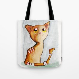 Orange Zombie Kitty Tote Bag
